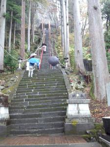 妙義山ドライブ_中之嶽神社へと続く階段