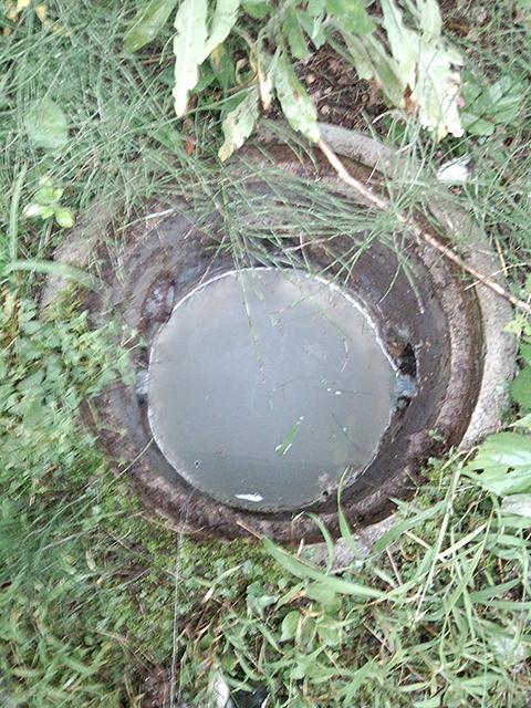 お風呂の汚水桝と排水管