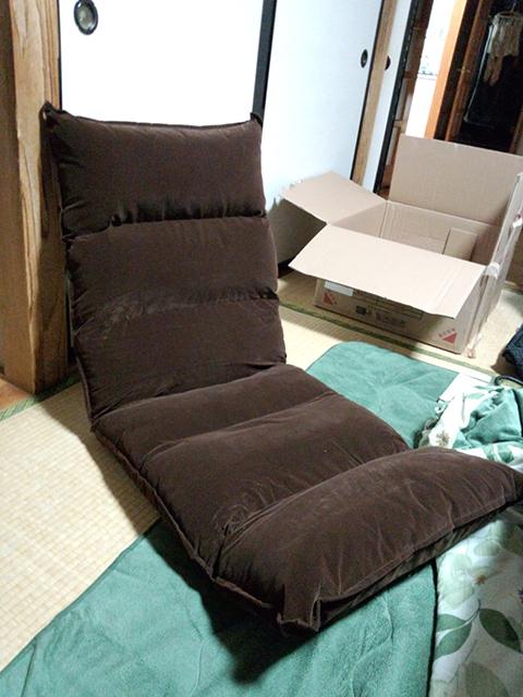 腰痛対策に座椅子