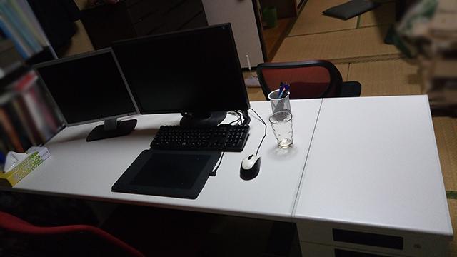 自宅だけどPCデスクをオフィスデスク&袖机に変えた