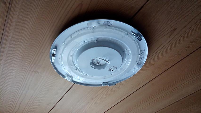 LEDシーリングライト本体の取付